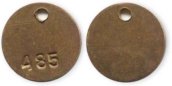 жетон бирка